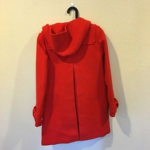 kate spade Jackets & Coats - HP NWOT Kate Spade wool red removebale hooded coat
